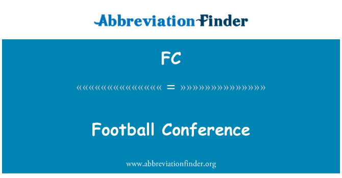 FC: Football Conference