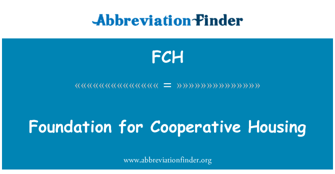 FCH: Foundation for Cooperative Housing