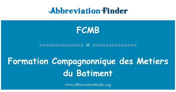 FCMB: Des Compagnonnique de formación Metiers du Batiment