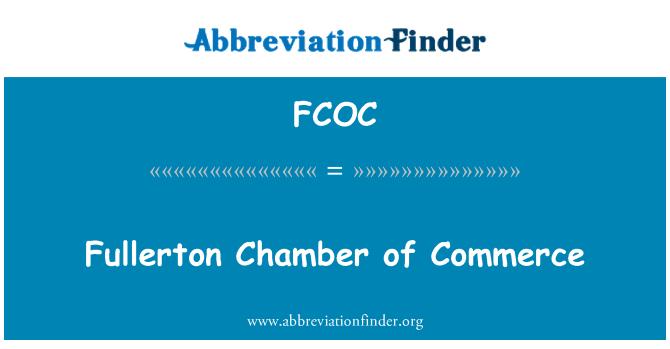 FCOC: Fullerton Chamber of Commerce