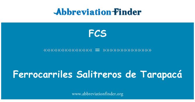 FCS: Ferrocarriles Salitreros de Tarapacá
