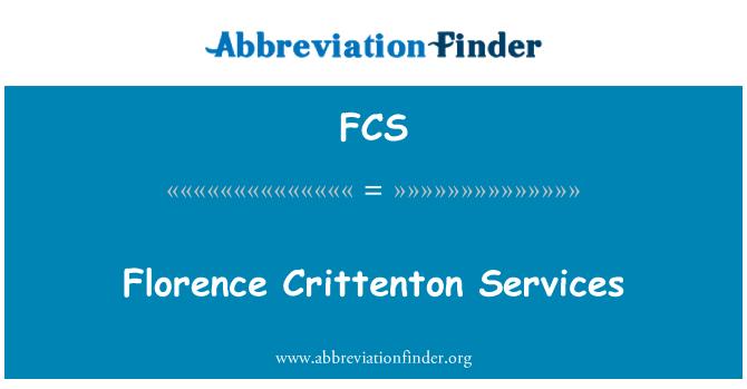 FCS: Florence Crittenton Services
