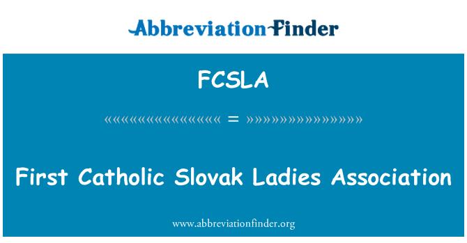 FCSLA: First Catholic Slovak Ladies Association