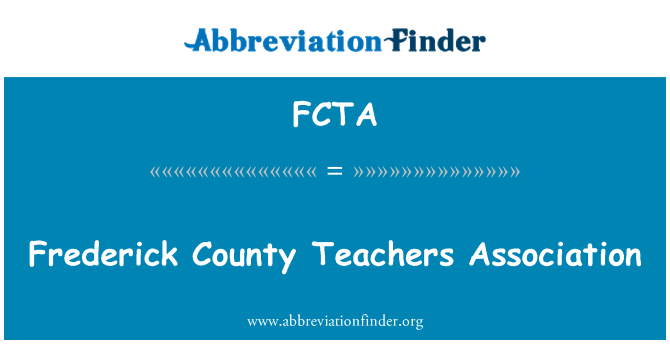 FCTA: Frederick County Teachers Association