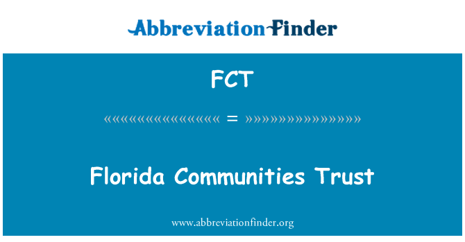 FCT: Florida Communities Trust