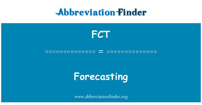 FCT: Forecasting