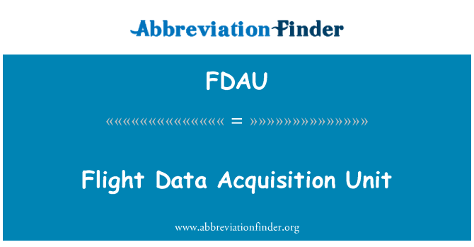 FDAU: Flight Data erhvervelse enhed
