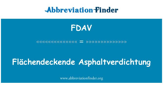 FDAV: Flächendeckende Asphaltverdichtung