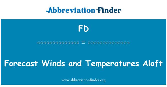 FD: Forecast Winds and Temperatures Aloft