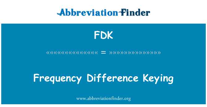 FDK: Frequency Difference Keying