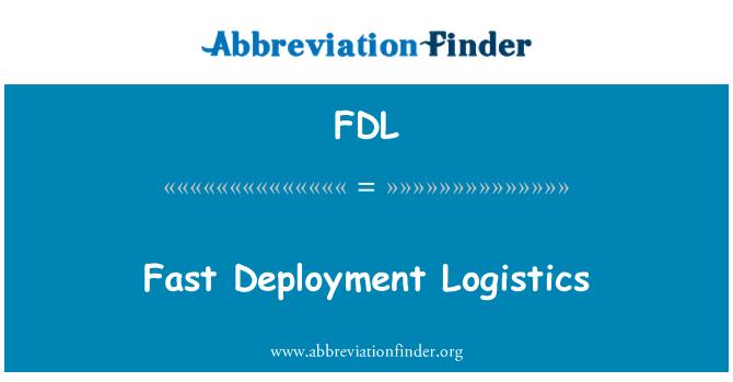 FDL: Hızlı dağıtım lojistik