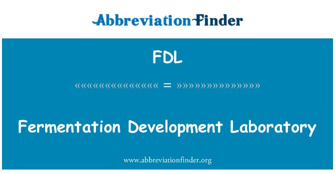 FDL: Fermentation Development Laboratory
