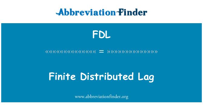 FDL: Sonlu dağıtılmış gecikme