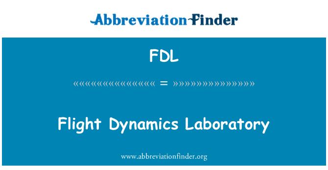 FDL: Laboratorio de dinámica de vuelo