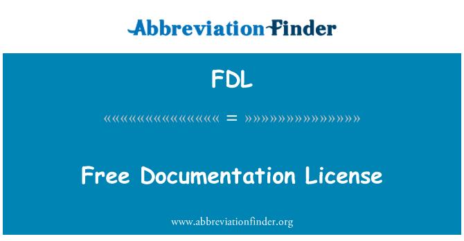 FDL: Licencia de documentación libre