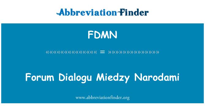 FDMN: Forum Dialogu Miedzy Narodami
