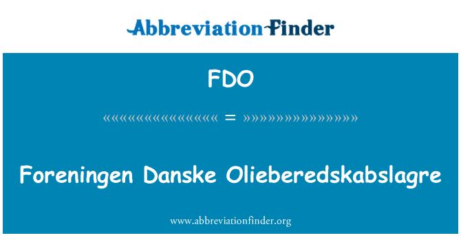 FDO: Foreningen Danske Olieberedskabslagre