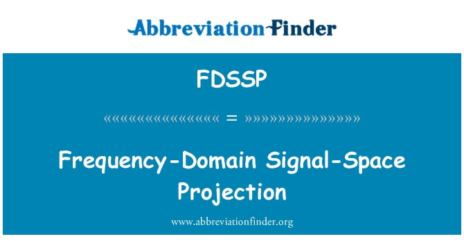 FDSSP: Frequency-Domain Signal-Space Projection