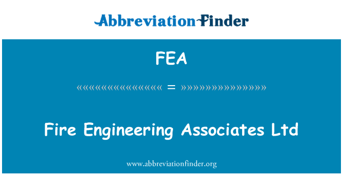 FEA: Fire Engineering Associates Ltd