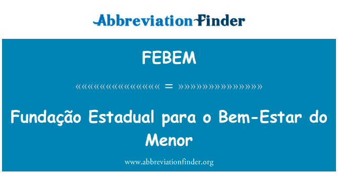 FEBEM: Fundação Estadual para o Bem-Estar do Menor