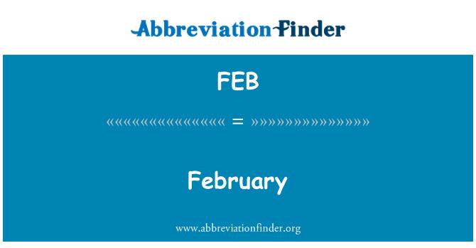 FEB: February