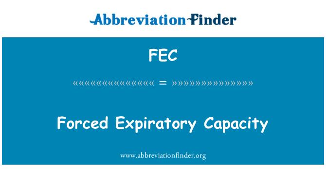 FEC: Forced Expiratory Capacity