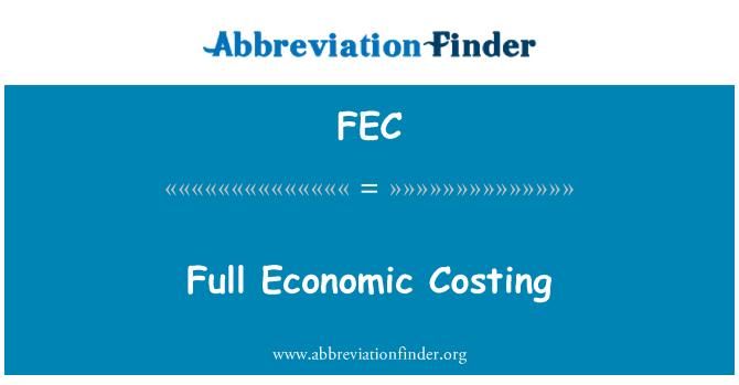 FEC: Full Economic Costing