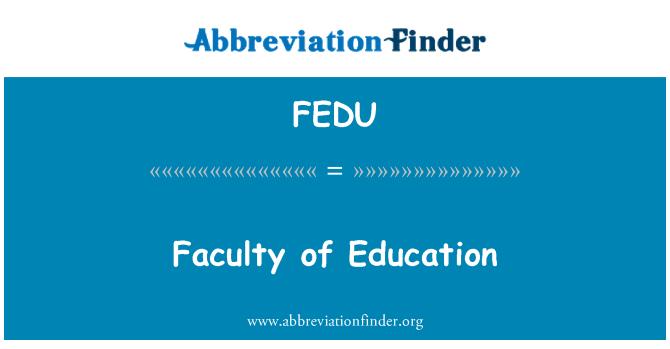 FEDU: Faculty of Education