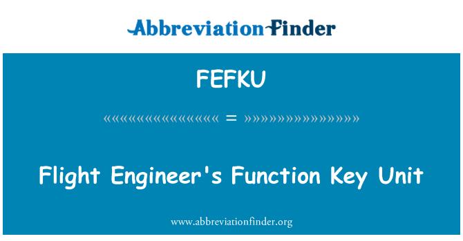 FEFKU: Flight Engineer's Function Key Unit