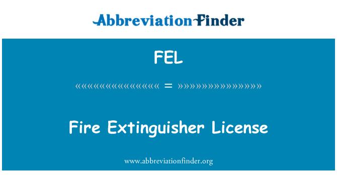 FEL: Fire Extinguisher License