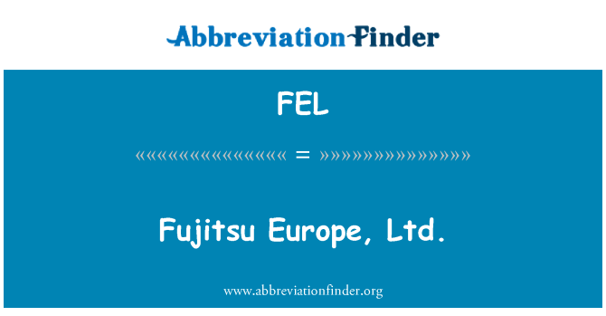 FEL: Fujitsu Europe, Ltd.
