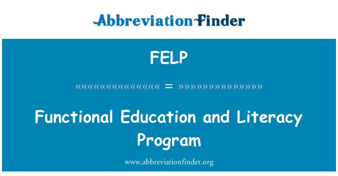 FELP: Functional Education and Literacy Program