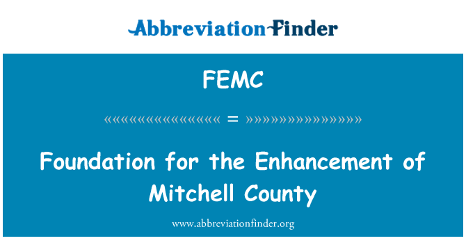 FEMC: Foundation for the Enhancement of Mitchell County