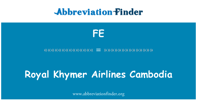 FE: Royal Khymer Airlines Cambodia