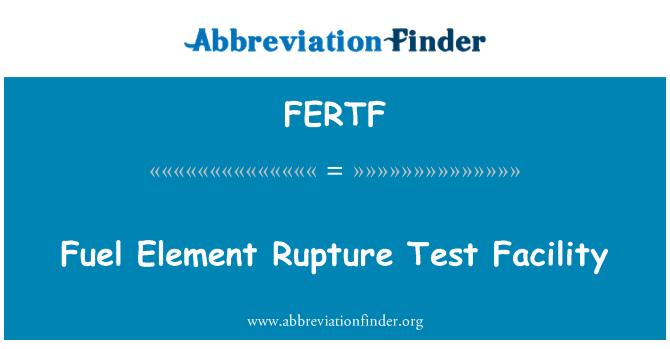 FERTF: Fuel Element Rupture Test Facility