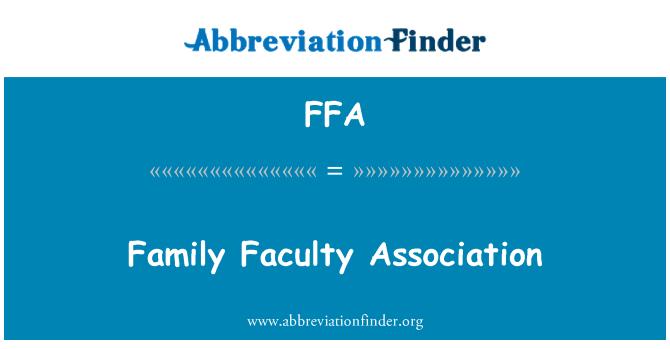 FFA: Family Faculty Association