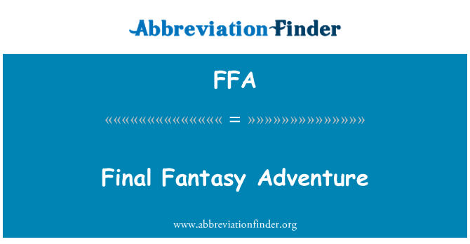 FFA: Final Fantasy Adventure