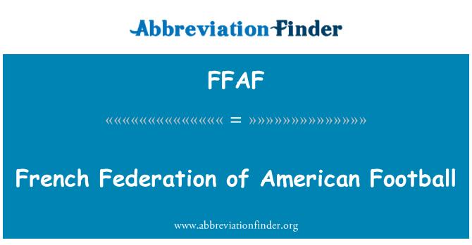FFAF: Federación francesa de fútbol americano