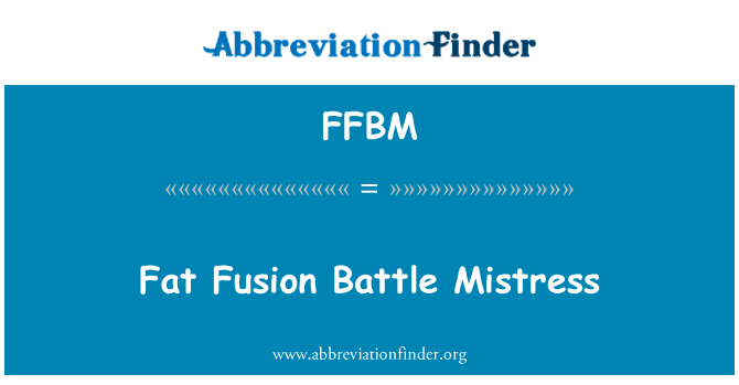FFBM: Grasa fusión batalla maestra