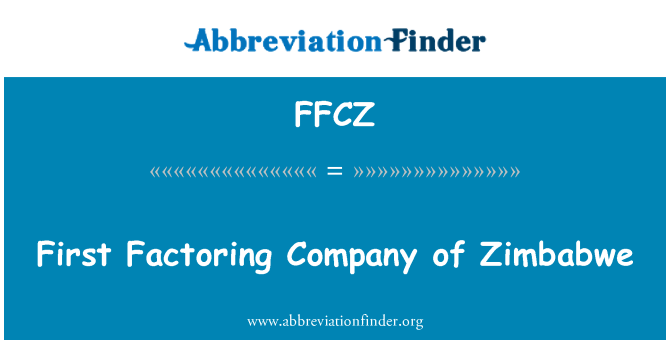 FFCZ: First Factoring Company of Zimbabwe