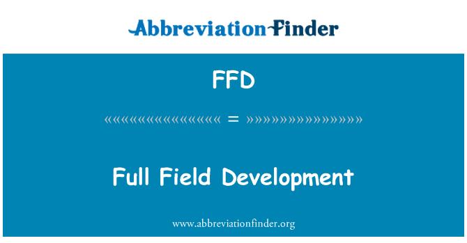 FFD: Full Field Development
