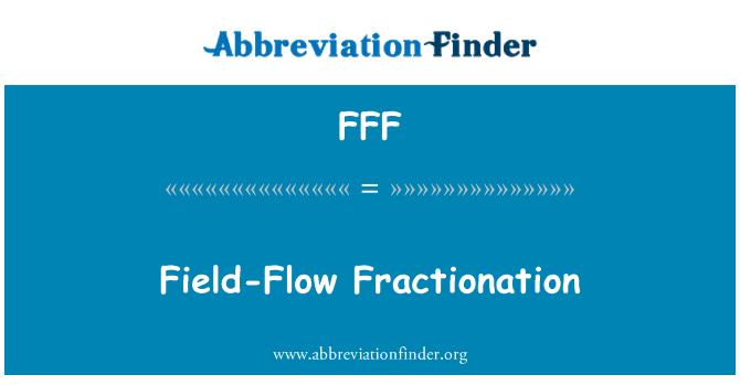 FFF: Fraccionamiento campo-Flow