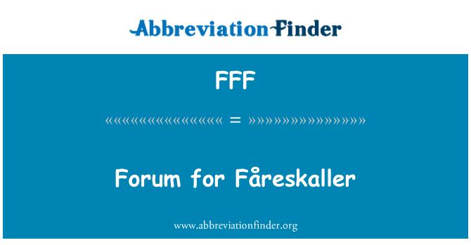 FFF: Foro de Fåreskaller