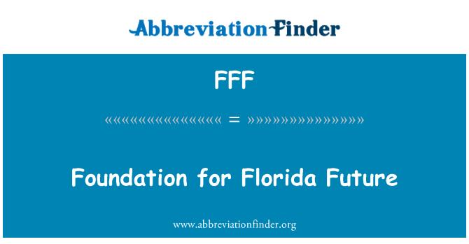 FFF: Fundación para el futuro de Florida