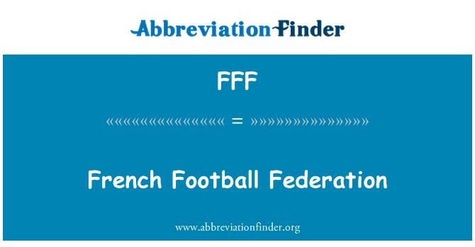 FFF: Federación francesa de fútbol