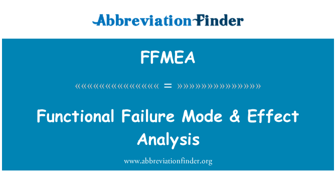 FFMEA: Functional Failure Mode & Effect Analysis