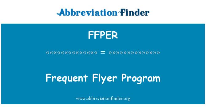 FFPER: Frequent Flyer Program