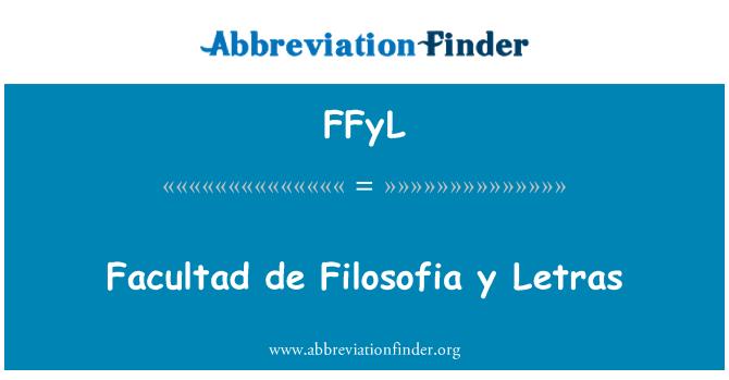 FFyL: Facultad de Filosofia y Letras