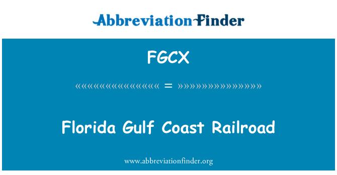 FGCX: Florida Gulf Coast demiryolu