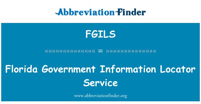 FGILS: Florida Government Information Locator Service